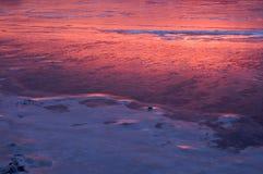 Reflektierender Sonnenaufgang Stockbild