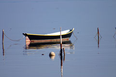 Reflektierendes Boot Stockfoto