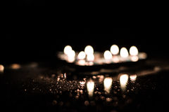 Reflektierte Kerzen Lizenzfreie Stockbilder