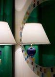 Reflektierte Lampe stockfoto