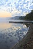 Reflektierter Adirondack Sonnenaufgang Stockfotografie