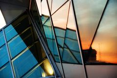 Reflektierter Sonnenuntergang Lizenzfreie Stockfotos