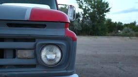 Reflektor i zderzak stary Amerykański samochód zdjęcie wideo