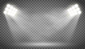 Reflektor iluminuje pustego tło ilustracja wektor