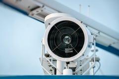 Reflektor na górze statku przeciw niebu Obraz Royalty Free