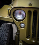 Reflektor na starym pojazdzie wojskowym Zdjęcia Royalty Free