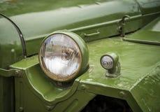 Reflektor na starym pojazdzie wojskowym Zdjęcia Stock