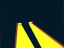 Reflektoru retro styl Noir Żółty promień światło wektor royalty ilustracja