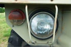 Reflektory militarny samochód Fotografia Stock