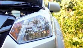 Reflektory nowy samochód Fotografia Stock