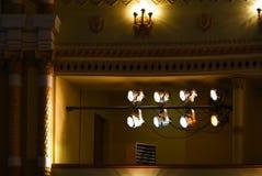 Reflektory w teatr sceny oświetleniu zdjęcie stock