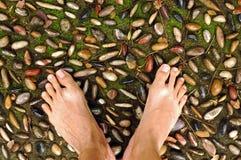 Reflessologia del piede fotografia stock libera da diritti