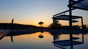 Reflet dell'acqua del tramonto immagine stock libera da diritti