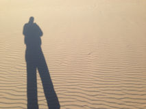 Refletiu a sombra de um homem Foto de Stock Royalty Free