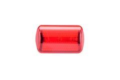 Refletor da bicicleta da luz vermelha Fotografia de Stock Royalty Free