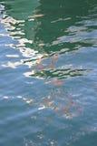 Reflexão 1 da cor de água fotografia de stock