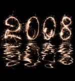 reflexão 2008 na água Fotos de Stock