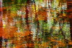 Reflexão abstrata colorida bonita da água fotografia de stock