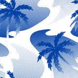Reflexão abstrata da palmeira no teste padrão sem emenda da água ilustração royalty free