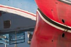 Reflexão abstrata do barco Imagem de Stock Royalty Free