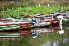 Reflexão alugado dos barcos Fotografia de Stock Royalty Free