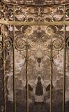 Reflexão amarela velha da escadaria Imagem de Stock