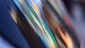 Reflexão colorida em um vidro imagem de stock