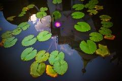 Reflexão da água do pagode em Watphadarabhirom Fotografia de Stock