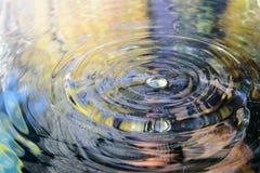 Reflexão da água e gota da água Foto de Stock Royalty Free