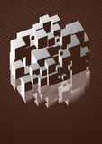 Reflexão da arte do cubo Fotos de Stock