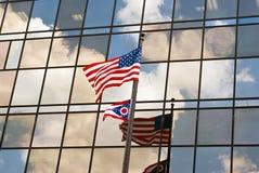 Reflexão da bandeira Imagens de Stock Royalty Free
