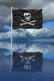 Reflexão da bandeira de pirata ilustração do vetor
