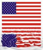 Reflexão da bandeira dos EUA ilustração do vetor