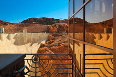 Reflexão da barragem Hoover Foto de Stock Royalty Free
