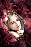 Reflexão da beleza Fotografia de Stock