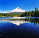 A reflexão da capa da montagem no lago Trillium Fotografia de Stock Royalty Free