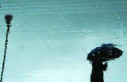 Reflexão da chuva Imagens de Stock