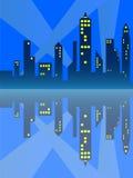 Reflexão da cidade ilustração do vetor