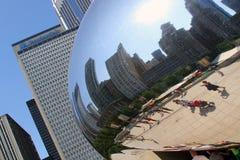 A reflexão da cidade da nuvem Fotografia de Stock