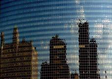 Reflexão da cidade de Chicago, Illinois, construções modernas Imagens de Stock