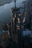 Reflexão da cidade - WTC foto de stock royalty free