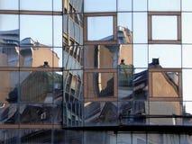 Reflexão da construção Fotografia de Stock