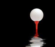 Reflexão da esfera de golfe ilustração do vetor