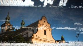Reflexão da igreja Fotografia de Stock Royalty Free