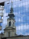 Reflexão da igreja Imagem de Stock