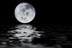 Reflexão da lua Foto de Stock