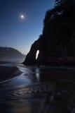 Reflexão da lua Imagens de Stock