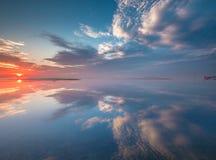 Reflexão da manhã Fotografia de Stock