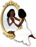 A reflexão da mulher Imagens de Stock