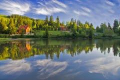 Reflexão da paisagem fotografia de stock